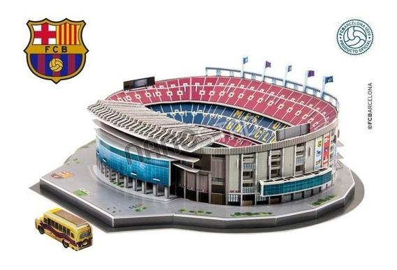 Maqueta Estadio 3d P/ Armar - Cancha Barcelona Y Real Madrid