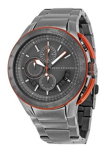 Relogio Armani Exchange Ax1405 Cinza Metal Novo Caixa Manual