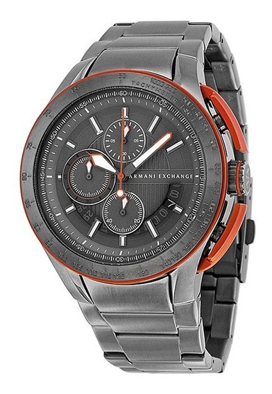 Relogio Armani Exchange Ax1405 Cinza Metal Novo Caixa Manual
