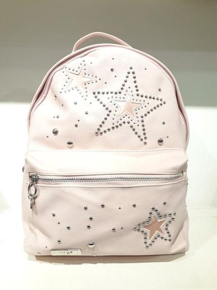 Mochila 47 Street Estrellas Tachas Dama Rosa