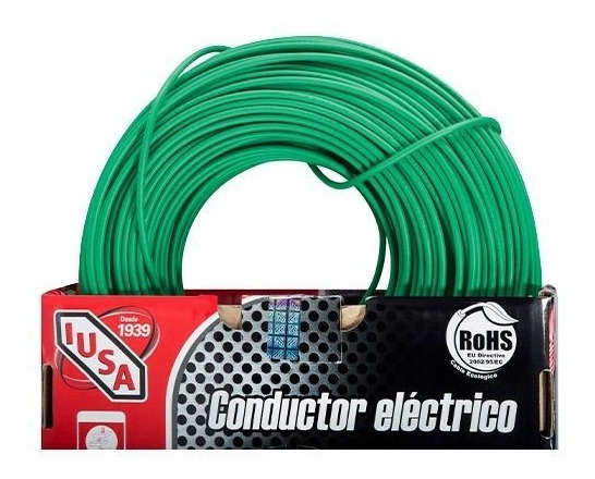 Cable Calibre 12 Thw-ls / Thhw-ls 100 M Verde