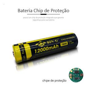 Bateria 12000 Mah Com Chip De Proteção 18650