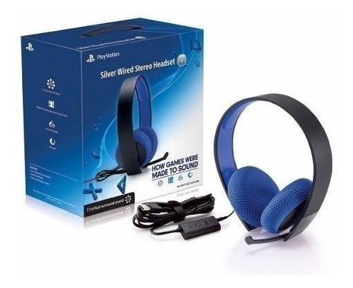 Fone Headset Sony 7.1 Silver Wired Stereo - Novo Sem Caixa!