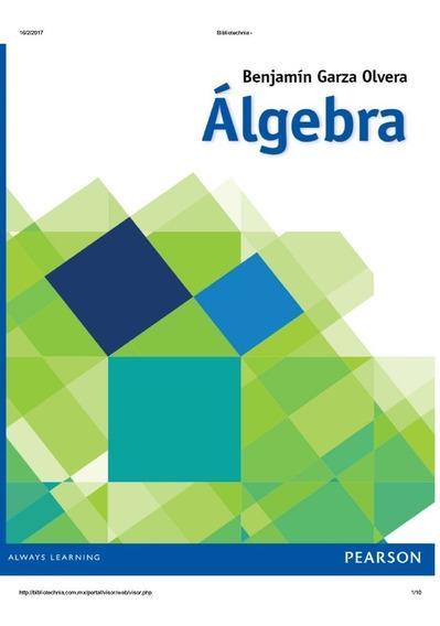 libro de algebra de benjamin garza olvera pdf gratis
