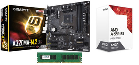 Kit Gamer Ga-a320ma-m.2 Am4 + Cpu A10-9700 + 4gb Ddr4