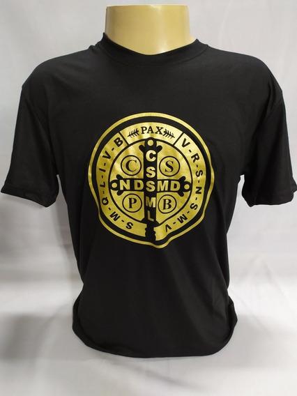Camiseta Medalha De São Bento Com Cd De Brinde