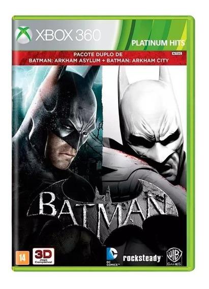 Batman Arkham Asylum + Arkham City Xbox 360 Físico Novo Rj