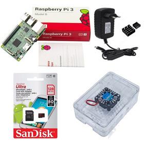 Kit Básico Raspberry Pi 3 - 128gb Case Premium Cooler