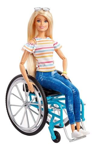 Barbie Fashionistas Muñeca En Silla De Ruedas Mattel Ggl22