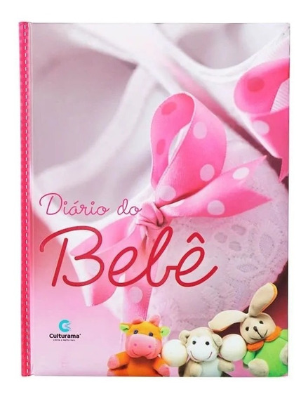 Diário Livro Bebê Anotações Álbum Gestação Menina Rosa