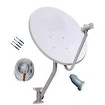 1 Antena Satélite 60cm Banda Ku + 1 Lnb Duplo Universal