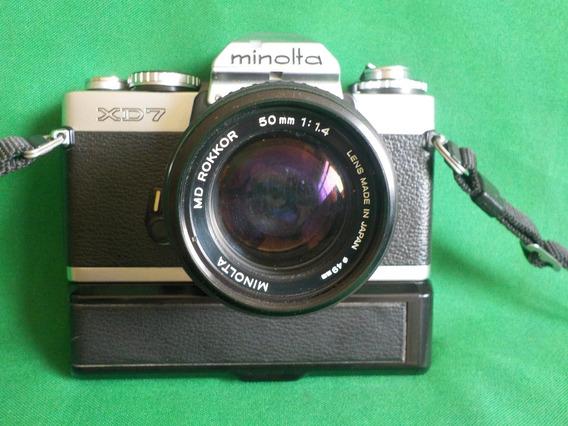 Câmera Máquina Fotográfica Minolta Xd7 Com Auto Winder