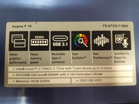Baixei Pra Vender !notebook Acer I7 - 16gb Ram - Gforce 4gb