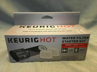Keurig Hot Filtro De Agua Kit 1 Filtro Y 2 Cartuchos K10/k15