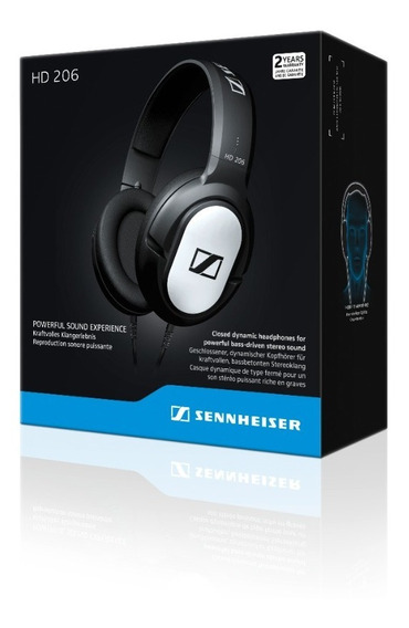 Audifono Sennheiser Hd206, Alámbrico Negro