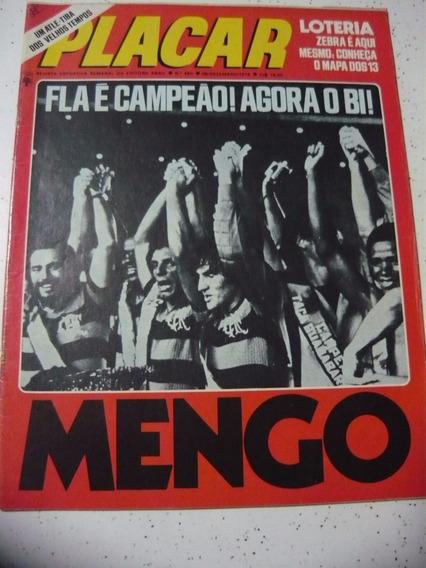 Revista Placar 450 Post- Atlético Pr - Flamengo Campeão 1978