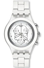 Relógio Swatch Irony Skull Feminino Swiss Original Caveira