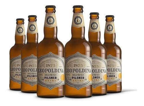 Imagem 1 de 2 de Kit Leopoldina Pilsner Extra 6 Cervejas 500ml+ Frete Grátis