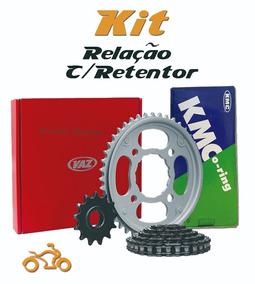Kit Relação Cbr 450 Vaz Kmc Com Retentor Transmissão Cbr450