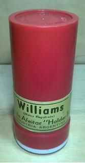 Antiguo Tarrito Plástico Jabon De Afeitar Williams Invertido