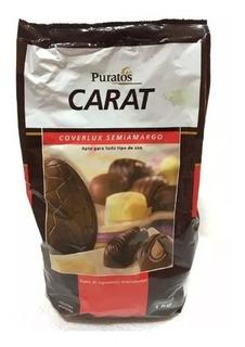Chocolate Puratos Carat Coverlux Semiamargo 1kg