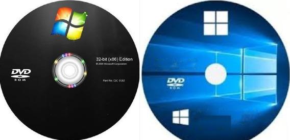 Cd Instalaçã Wind©ws 10+ 7 Todos + Drive E Office 03-dvd