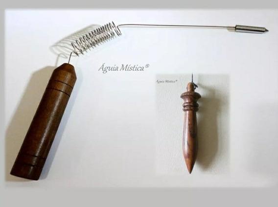 Aurameter /aurímetro Madeira + Pêndulo Egipcio Radiestesia