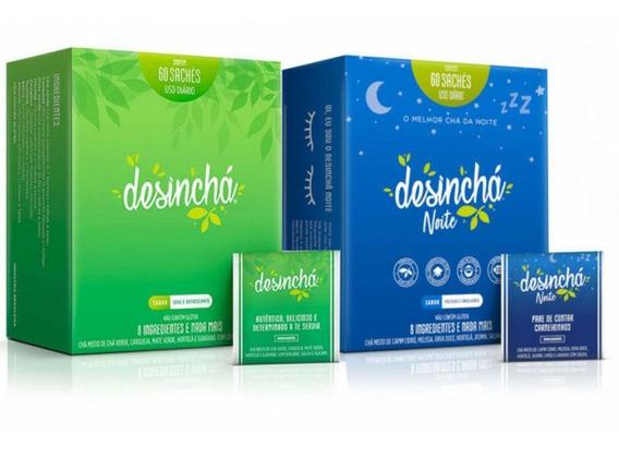 Kit Desinchá 60 Sachês + Desinchá Noite 60 Sachês