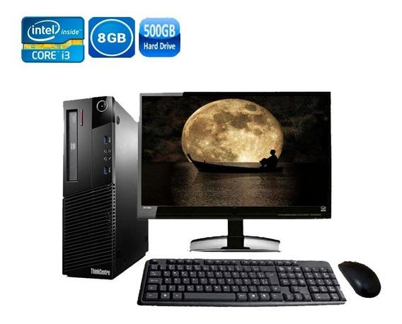 Computador Completo Lenovo M93 Core I3 8gb Hd 500gb + Wi-fi