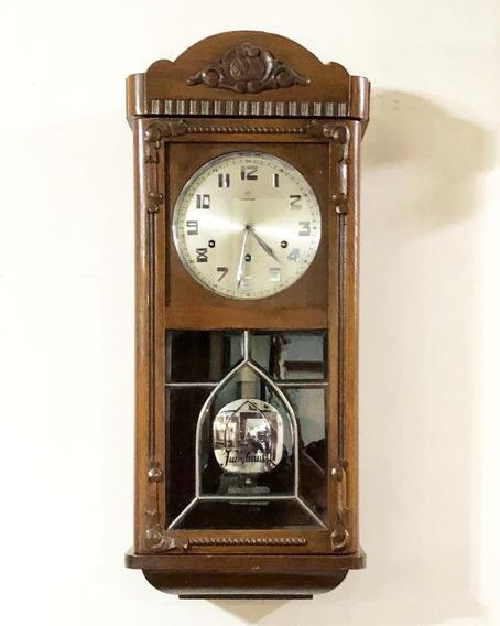 Reloj De Pared Antiguo Marca Junghans Alemán Ave Maria 1940