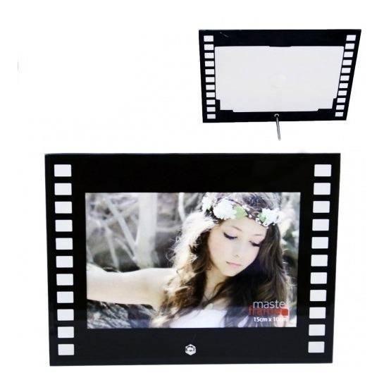 Porta Retrato 10x15 Moldura De Vidro Filme