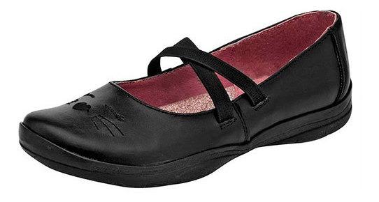 Tropicana Sneaker Escolar Piel Mujer Negro Gato Bta88698