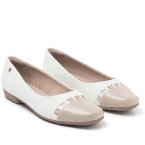 0cd7f0c0a Sapato Branco De Couro Piccadilly Feminino Sapatilhas - Sapatos com ...
