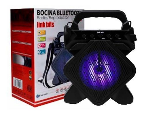 Bocina Con Lampara Link Bits Bluetooth Portatil Usb Va346t
