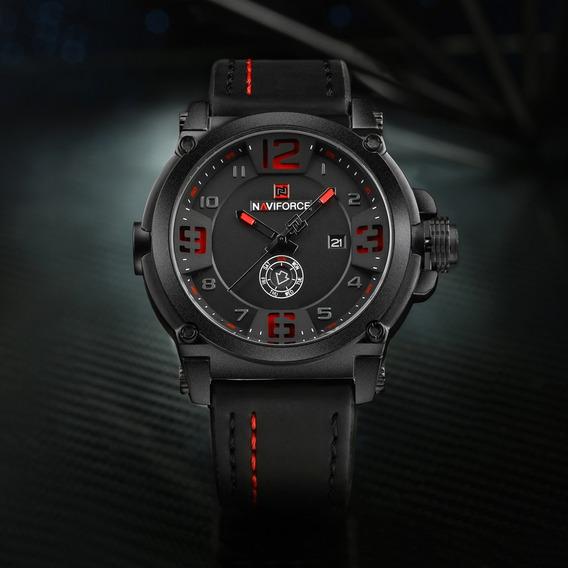 Relógio Militar Masculino Naviforce Original 9099 C/ Caixa