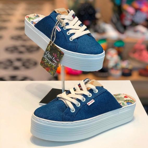 Tênis Farm Mule Azul Jeans - Alto Verão 20 - Lj Berti Maria