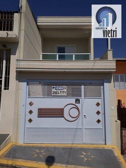 Lindo Sobrado Novo Com 3 Dormitórios (1 Suíte) Churrasqueira Com 2 Vagas De Garagem Com Fino Acabamento Em Excelente Localização Próximo A Região Cent - So2313