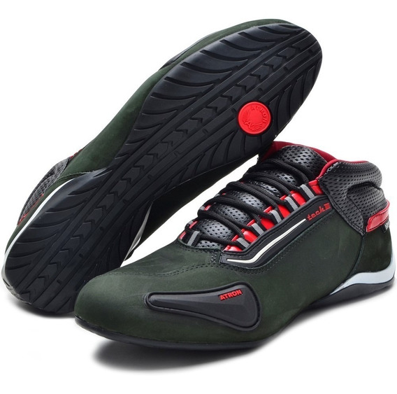 Sapato Tenis Calçado Sapatilha Motociclista Em Couro Luxo