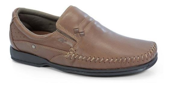 Sapato Casual Couro Masculino Jovaceli - 14151 - Tostado
