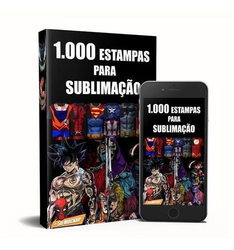 1000 Estampas Para Sublimação Mega Kit De Artes + 50 Mockup