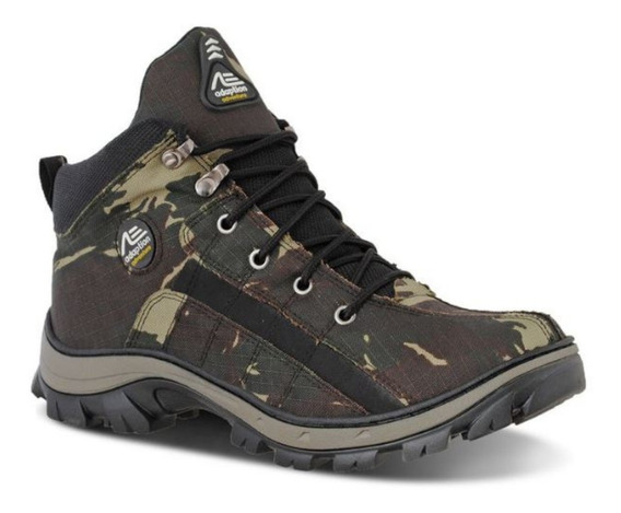Oferta Bota Masculina Camuflada Lona Tiger Adaption Top Resi
