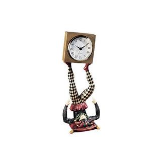 Diseño Toscano Tiempo De Malabares De Arlequín Bufón Escultu