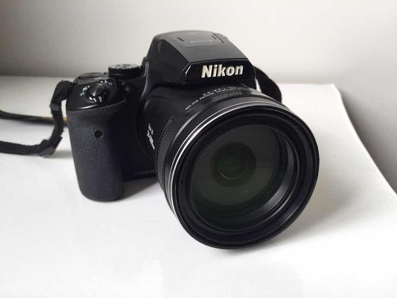 Nikon Coolpix P900 + Bolsa + Cartão De Memória