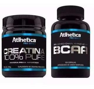Combo Bcaa 120 Cápsulas + Creatina 100g Nutrition Atlhetica