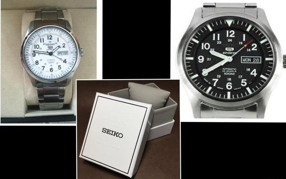 Relógio Automático Aço Seiko 5 23 Joias 100m Snzg13j1