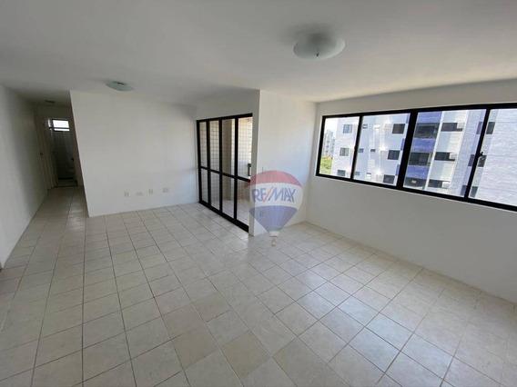 Apartamento Com 3 Dormitórios Para Alugar, 88 M² Por R$ 2.700,00/mês - Torre - Recife/pe - Ap0144