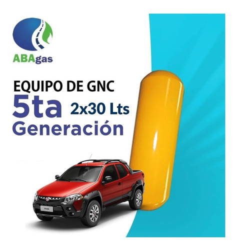 Equipo De Gnc 5ta Gen. Bajo Chasis Fiat Strada Adventure