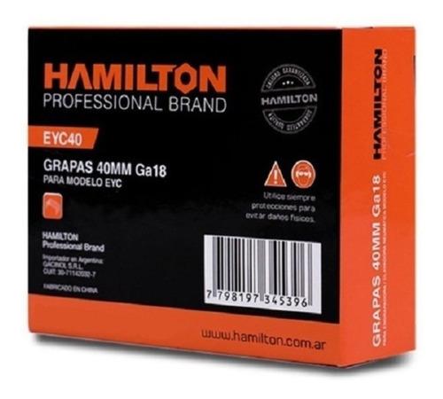 Grapas Para Engrapadora 2482 Unid 5,7 X 40 Mm Eyc40 Hamilton