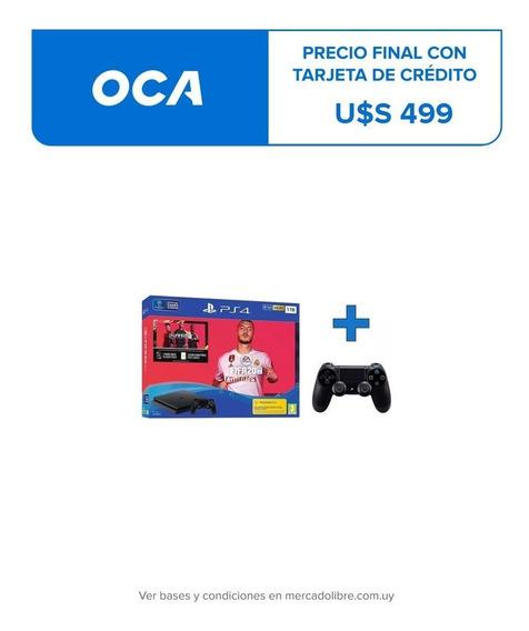 Consola Playstation 4 Ps4 1tb + Fifa 20 + 2 Controles