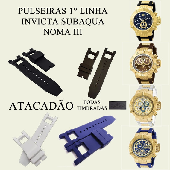 2 Pulseiras Relógio Invicta Subaqua Noma Iii Varias 1 Linha